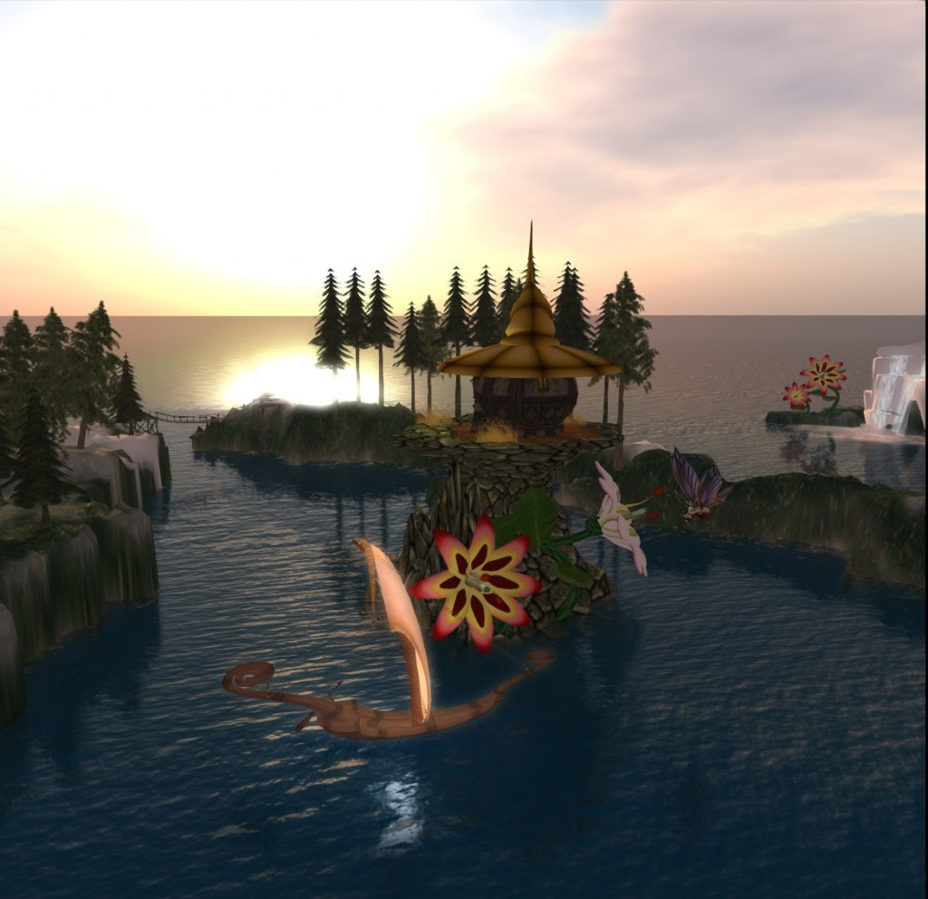 Sunset in Eoliah Village