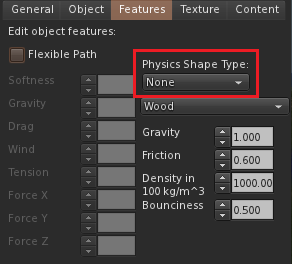 Physics Shape Type