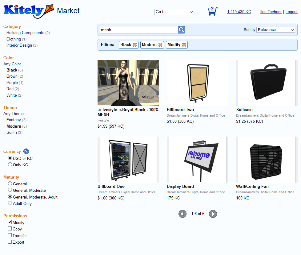 Kitely Market Search