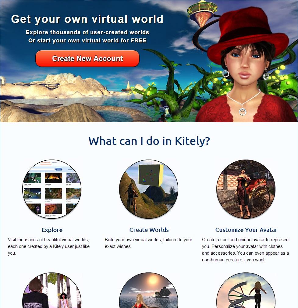 Kitely Homepage