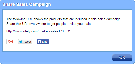 Share Sales Campaign