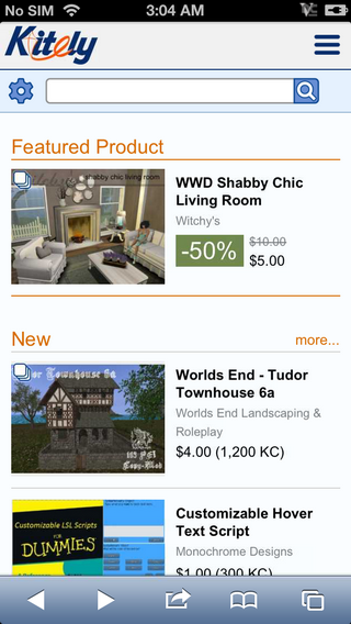 Mobile Front Page